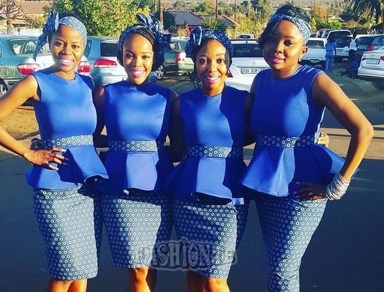 New Tswana Traditional Dresses For Bridesmaids