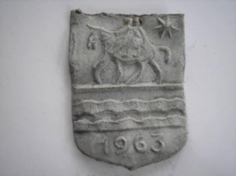 """Naam: Waterschapshuis """"Hunsingo""""Plaats: OnderdendamJaartal: 1963Boek: Steijn blz 10Bijz: wapen Winsum & Schaphalsterzijlvest"""