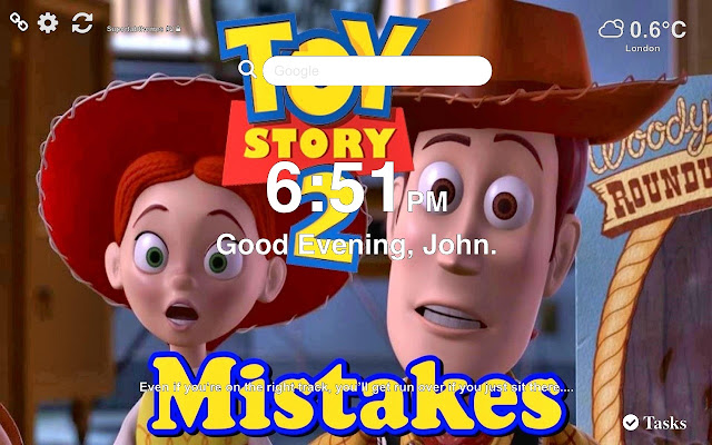 Toy Story 2 HD Wallpaper Tab Theme