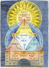 Cosmological Diagram From Helisaeus Roslin De Opere Dei Creationis, Alchemical And Hermetic Emblems 2