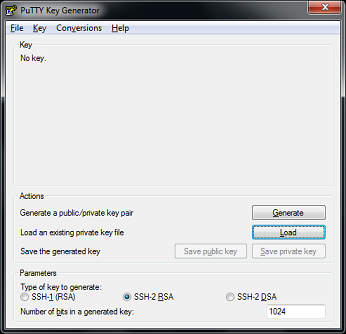 Generate ssh private key using puttygen