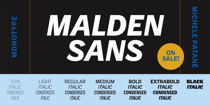 Download Malden Sans Font Family From Monotype