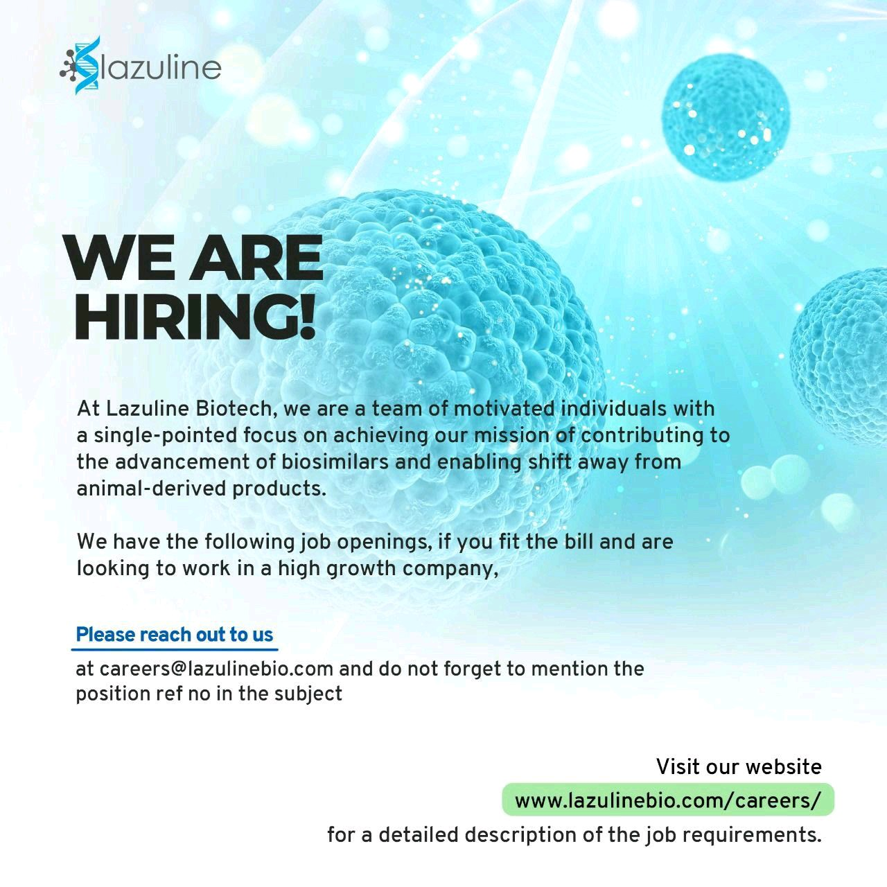 Multiple Opening  At Lazoline For Production, QA, QC, Regulatory Affairs, R&D Department