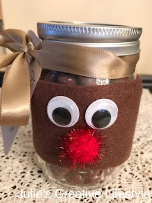 Reindeer Mason Jar @ Julie's Creative Lifestyle