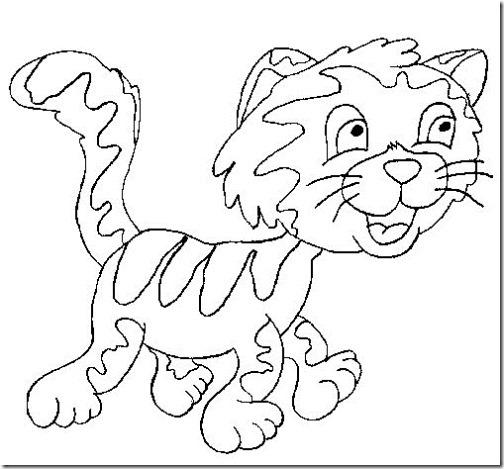 gato a colorear pintaryjugar  (9)