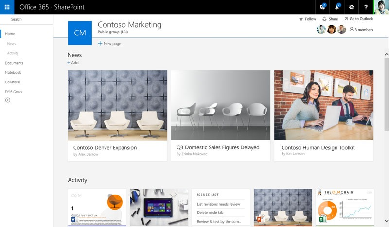 New SharePoint team site-800