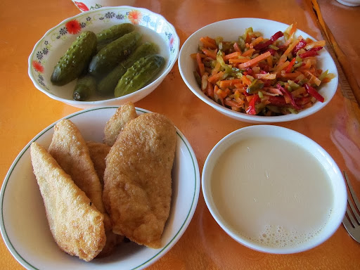Mongolian food. Photo by Ven. Sarah Thresher.