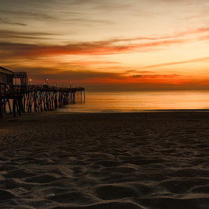 Dawn Breaking at Avalon Pier.jpg