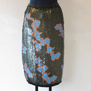 Cynthia Rowley NEW Sequined Front Pencil Skirt