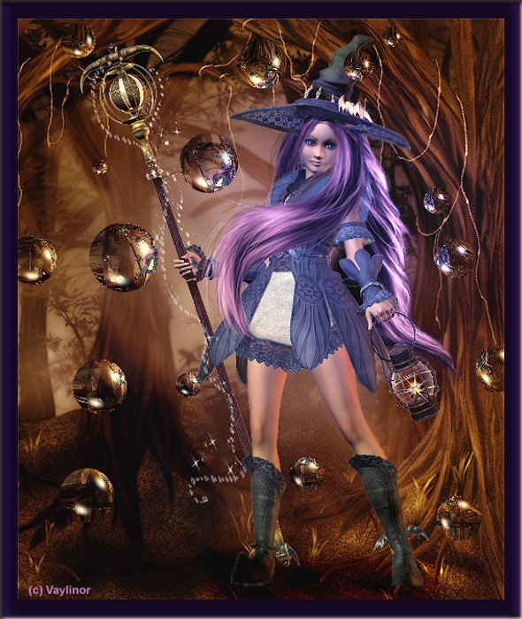 Purple Witch With Stuff, Pretty Witches