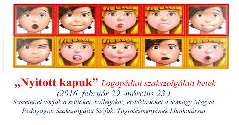 Logopédiai Szakszolgálati Hetek - Siófok 2016