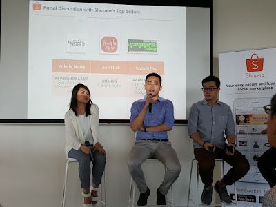 Top sellers on Shopee share their experiences: from left, Wong, Lee and Foo.