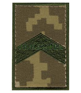 Погон ДПС Старший сержант /тк.NDU/ 70х45мм