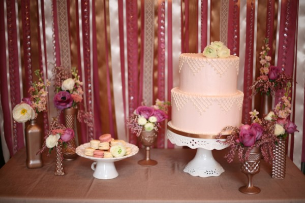 Plum Dessert Table