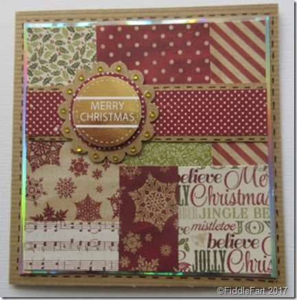 Patchwork Christmas Card b