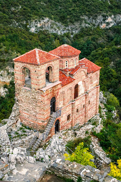 The Medieval Church of the Holy Mother of God Tzar Asen's Fortress near Asenovgrad Bulgaria