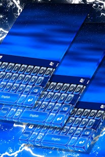 Blue Stylish Keyboard Theme - náhled