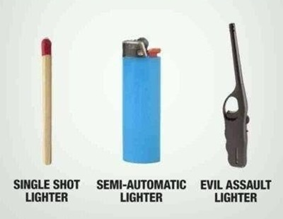 evil assaule lighter gun