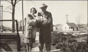 GOULD_H Norman & wife Patricia holding new baby Diane_Mar 1950