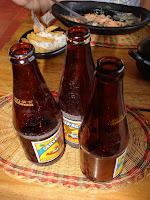 Acompañando la trucha con cerveza... estamos en Boyacá