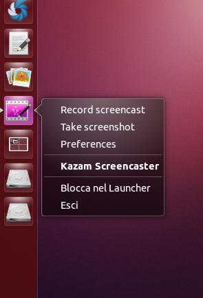 Kazam 1.3.4 su Ubuntu - quicklist