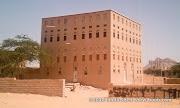 A typical mansion in Azzan, Shabwa. مدينة عزان بمحافظة شبوة