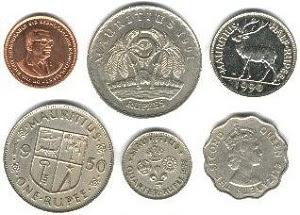 gambar mata uang rupee mauritius logam atau koin