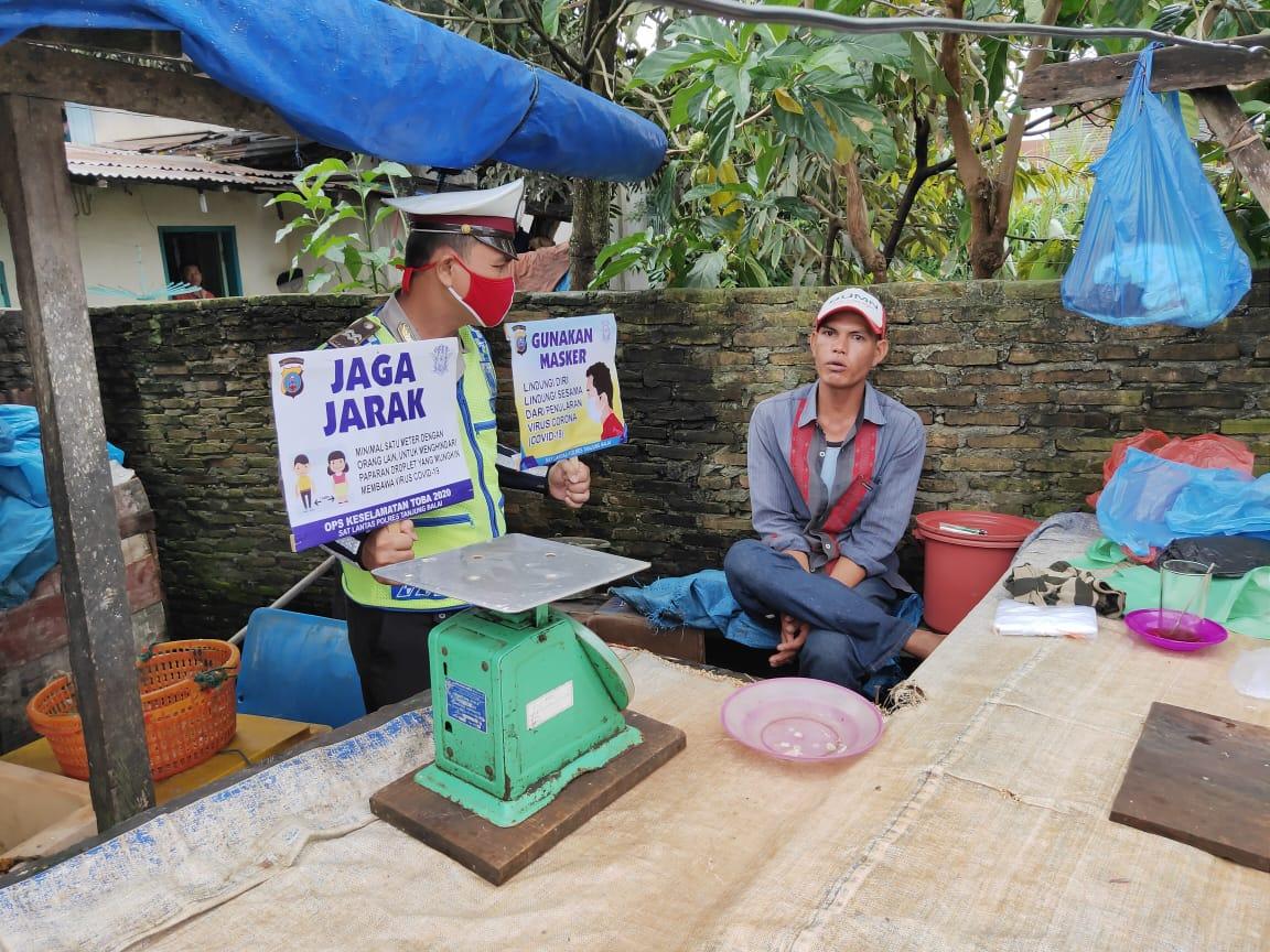 Dukung Tatanan Hidup Baru, Sat Lantas Polres Tanjung Balai Himbau Cegah Covid 19