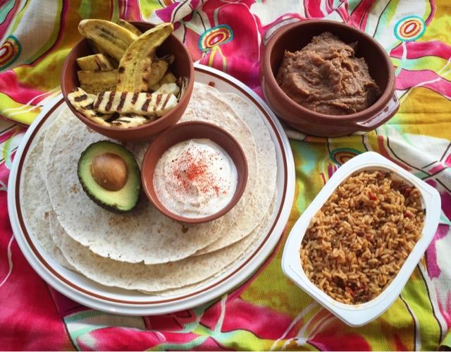 Veggie Burritos with Halloumi, Avocado & Plantain