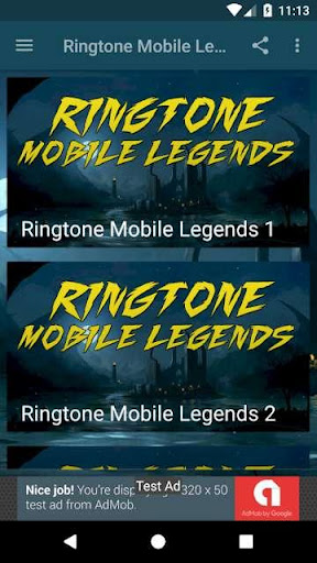 Ringtone Mobile Legend 1.0 screenshots 1