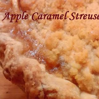 Apple Caramel Streusel Pie