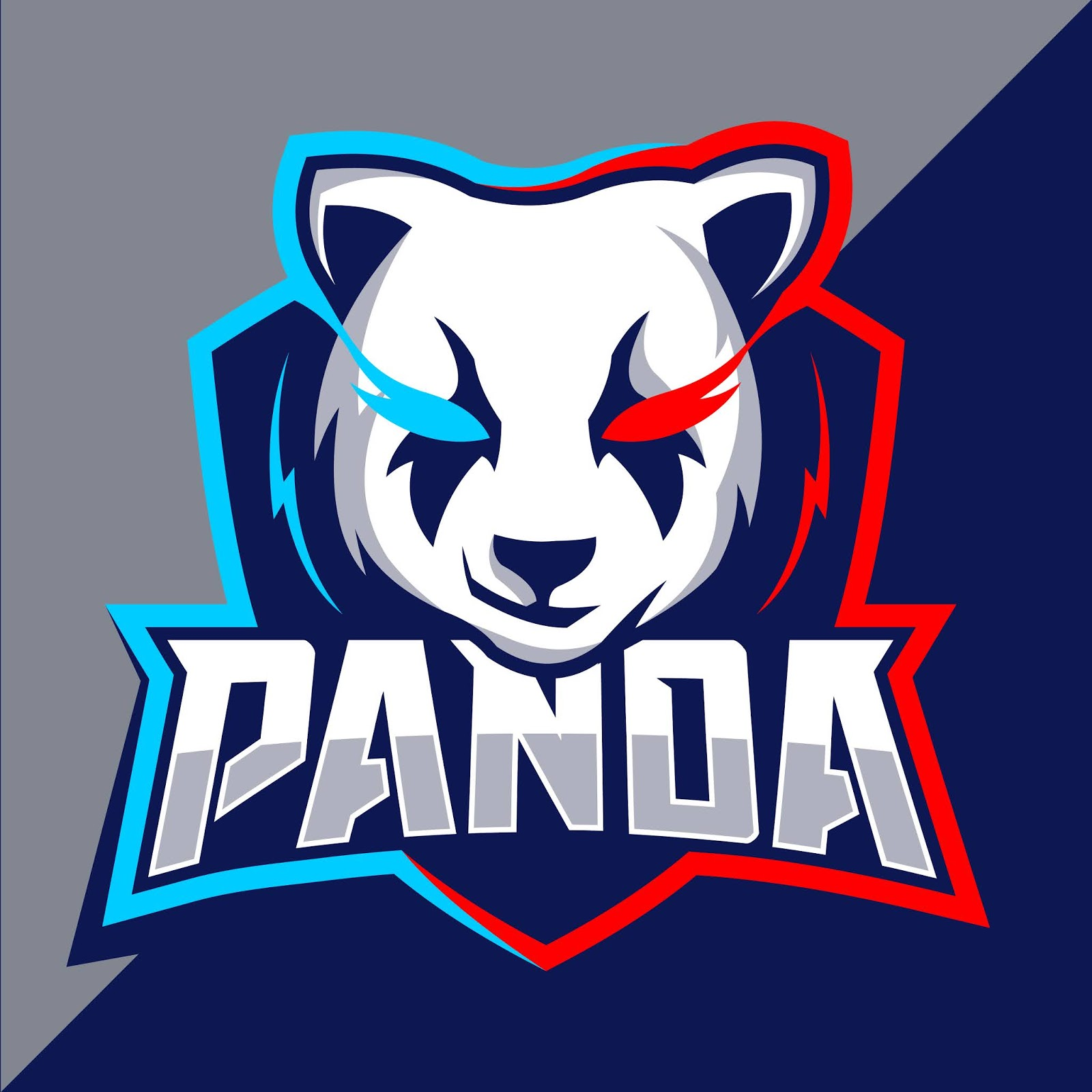 Panda Mascot Esport Logo Style Free Download Vector CDR, AI, EPS and PNG Formats