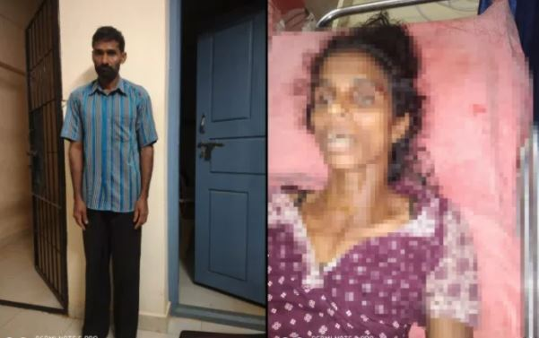 man arrested for his wife's murder | ಕುಡಿತ ತಂದ ಆಪತ್ತು!- ಮತ್ತಿನಲ್ಲಿ ತನ್ನ ಪತ್ನಿಯನ್ನೇ  ಕೊಚ್ಚಿದ ಹಾಕಿದ ಪಾಪಿ