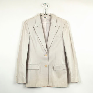Calvin Klein Collection 2-Button Leather Blazer