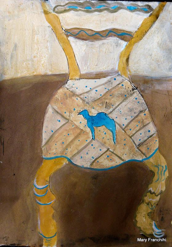 """Camel Chair 2"", Gouache"