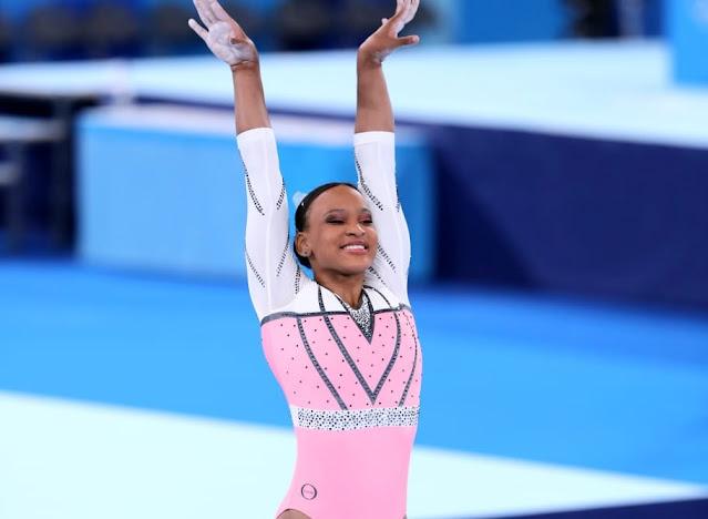 Rebeca Andrade na final de salto em Tóquio 2020