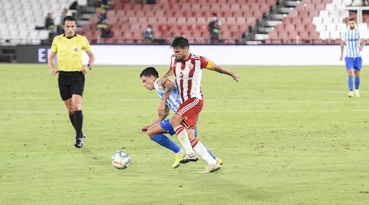 Romera en el partido Almería-Málaga.