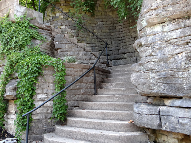 Stone staircase in Eureka Springs