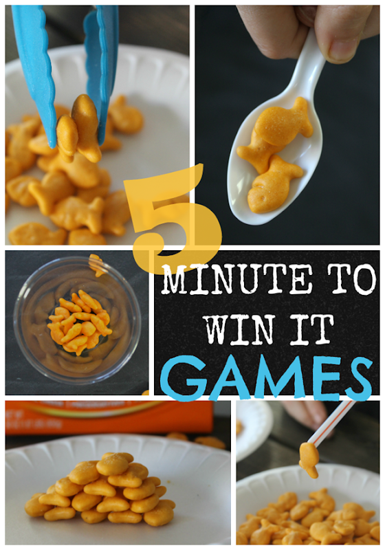 5 Minute to Win It Games @ GingerSnapCrafts.com #games #goldfish