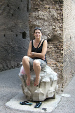 Photo: Teresa rests at the Colosseum