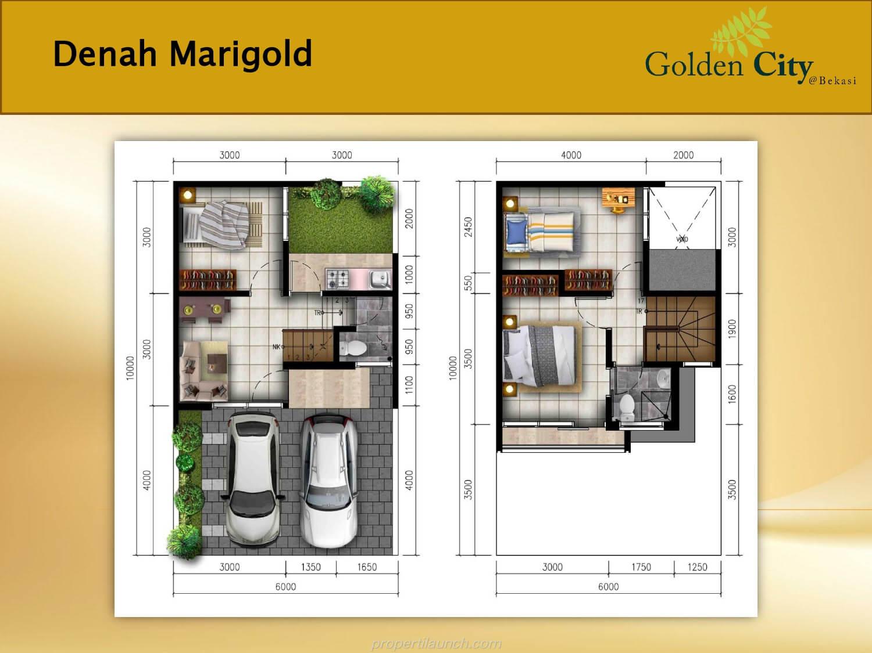 Denah Rumah Marigold Golden City Bekasi