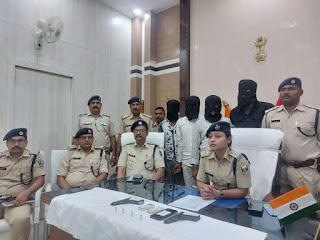 SAHARSA NEWS:सहरसा में पिस्तौल व गोली के साथ दारोगा पुत्र समेत चार बदमाश गिरफ्तार