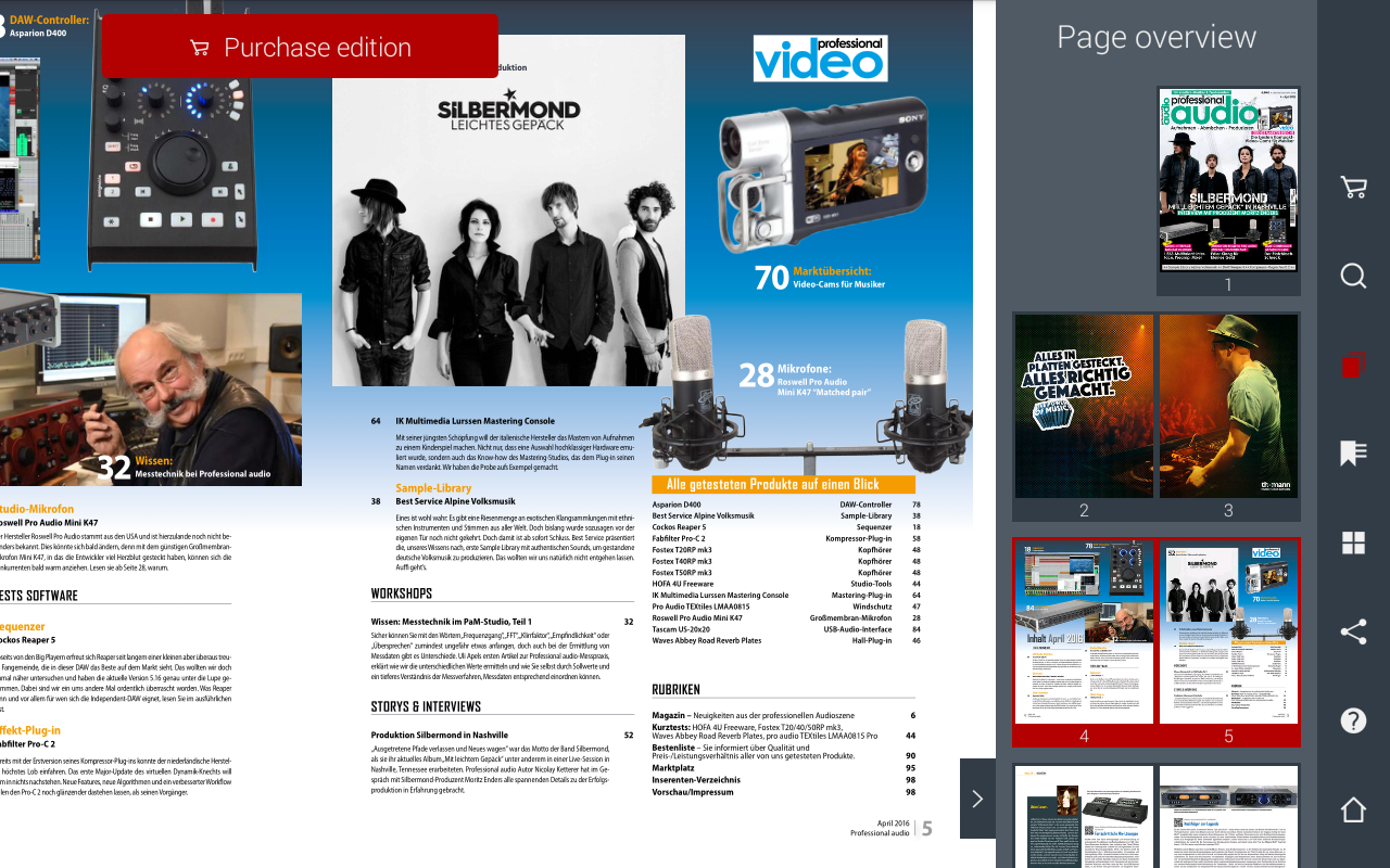 Professional audio Magazin- screenshot