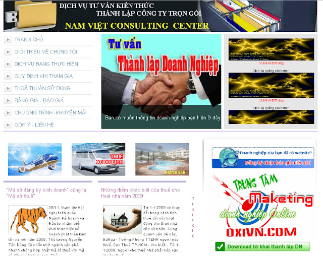 Dự án thiết kế website doanh nghiệp số 03