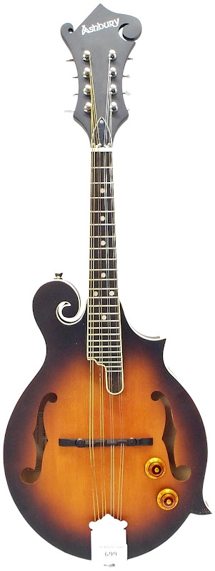 Ashbury am380 ƒ style electro Mandolin at Ukulele Corner