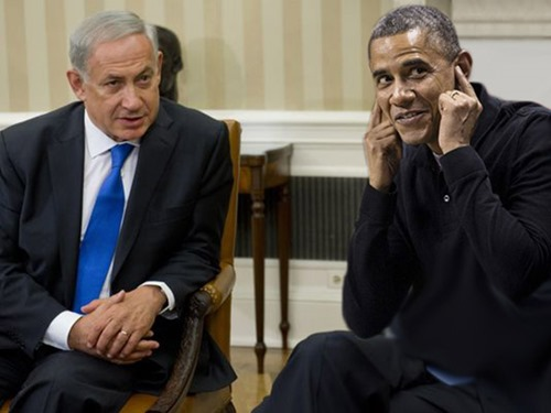 Obama-Covering-His-Ears-While-Benjamin-Netanyahu-Speaks