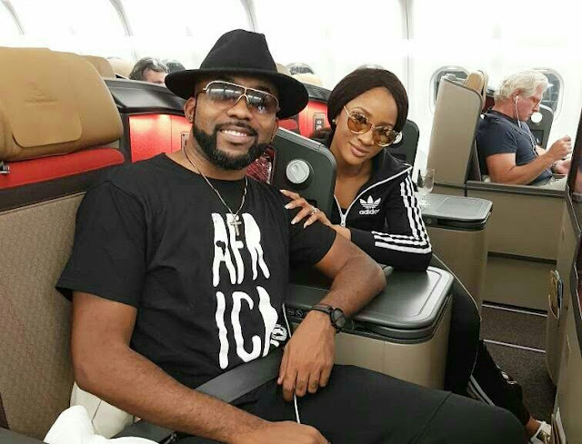Banky-W mistakenly shares wife, Adesua's naked photo online