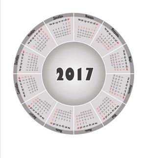 круглый календарь 2017