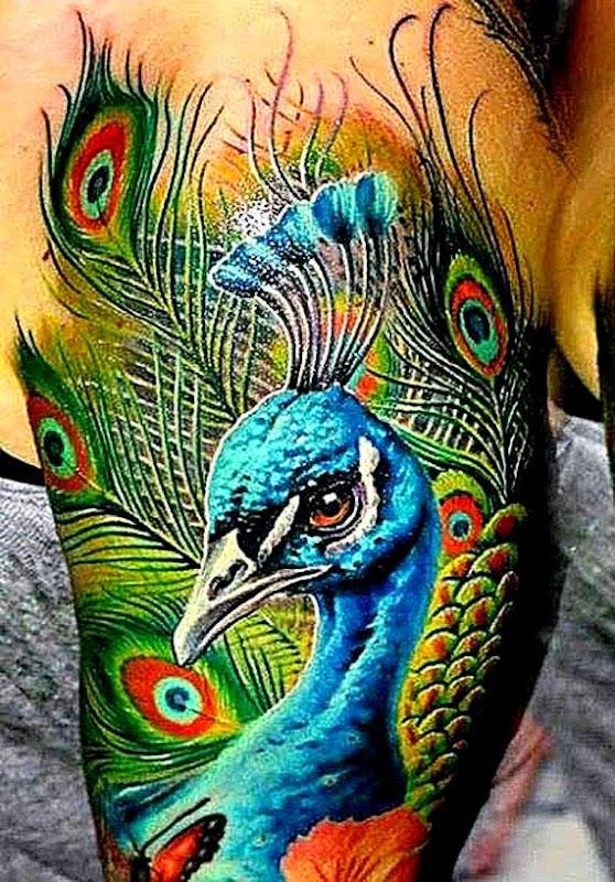 55 Peacock Tattoo Designs » Design You Trust Design Culture