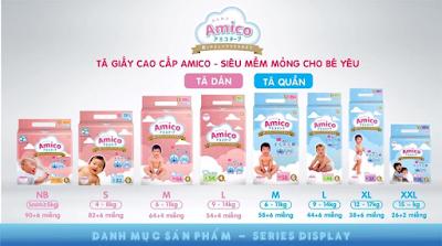 Dịch vụ cho mẹ và bé: Bỉm AMICO của Nhật Image